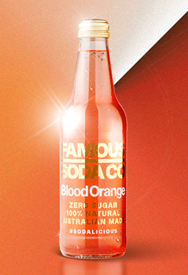 Picture of FAMOUS SODA - BLOOD ORANGE 330ML