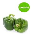 Picture of Capsicums - Pre Pack Green 1Kg